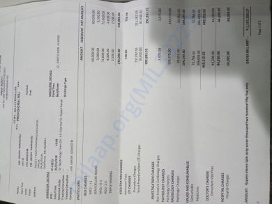 His Out of Pocket Medical Expensis BIll so Far