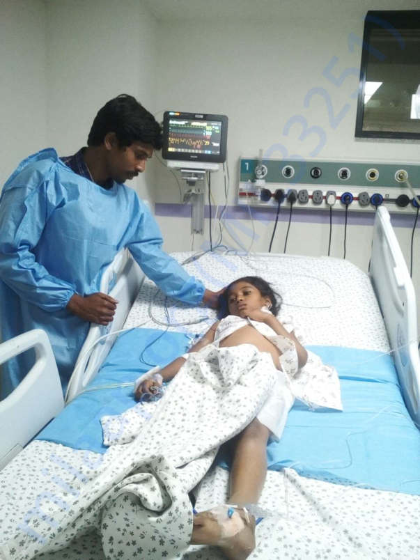 Image of the girl at Rainbow Hospital
