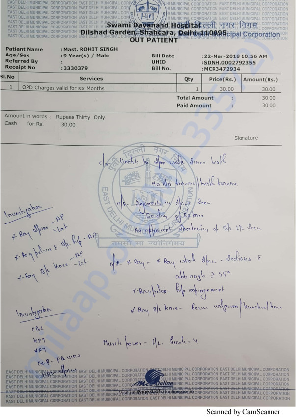 Medical report Of Mast. Rohit