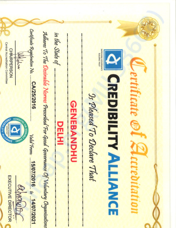 Credible Alliance Certificate