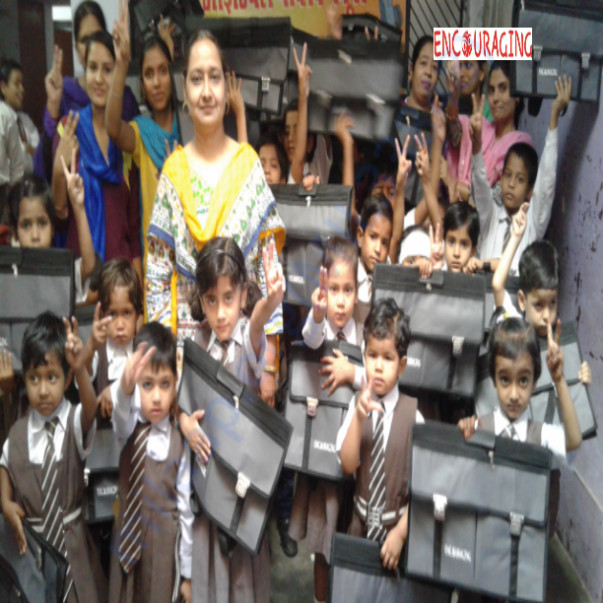 School kit distribution drive by Encouraging
