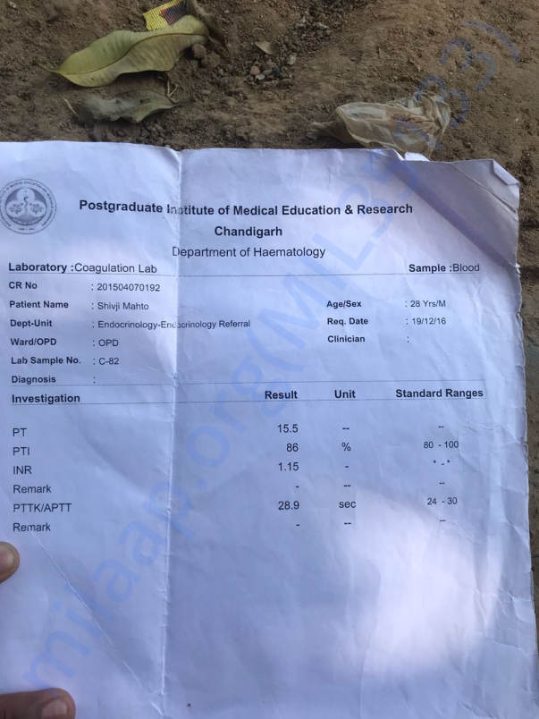 Medical reports issued by PGI