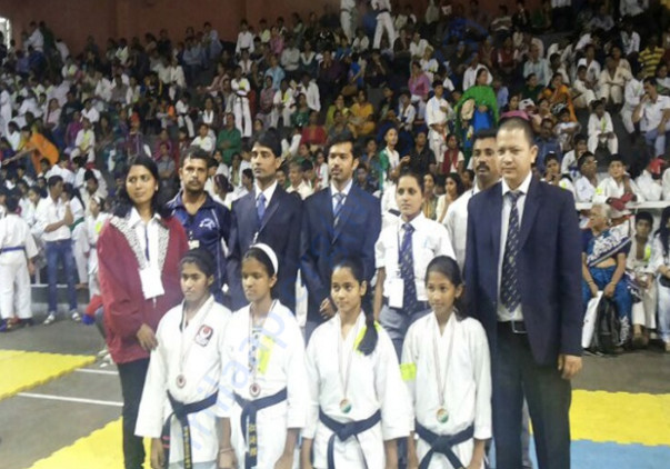 Girls from our organisation at an International Karate Championship