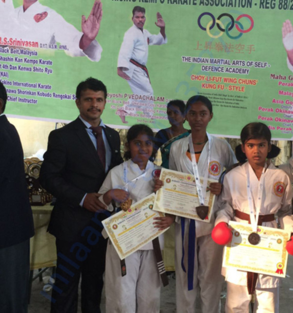 Winners at a State Level Karate Championship