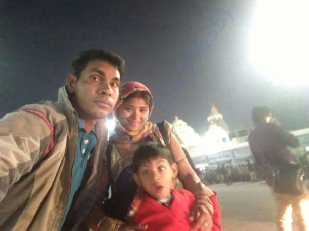 Nrusingha with his wife and son
