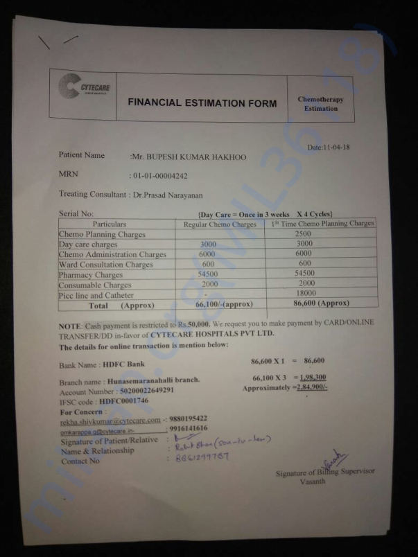 Financial estimation form 1