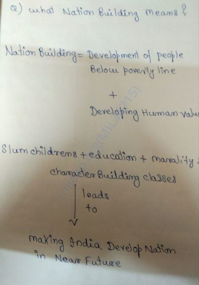 What Nation Building Means ?