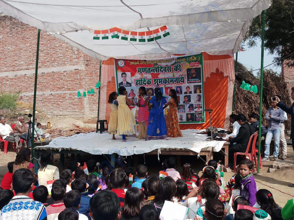 Cultural program organized by academy on Republic day