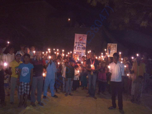 Candle march organized by our academy