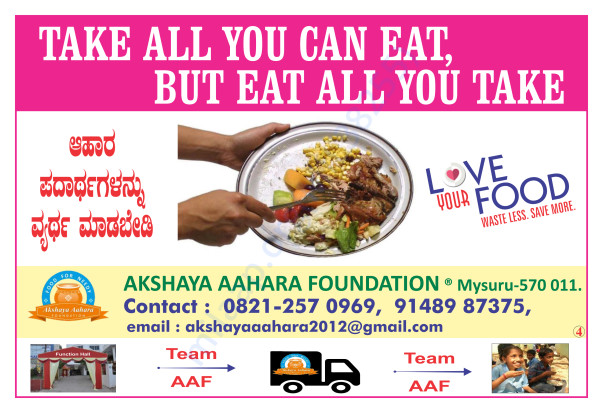 Anti Food Wastage Poster