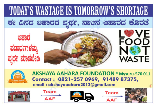 Anti Food Wastage Posters