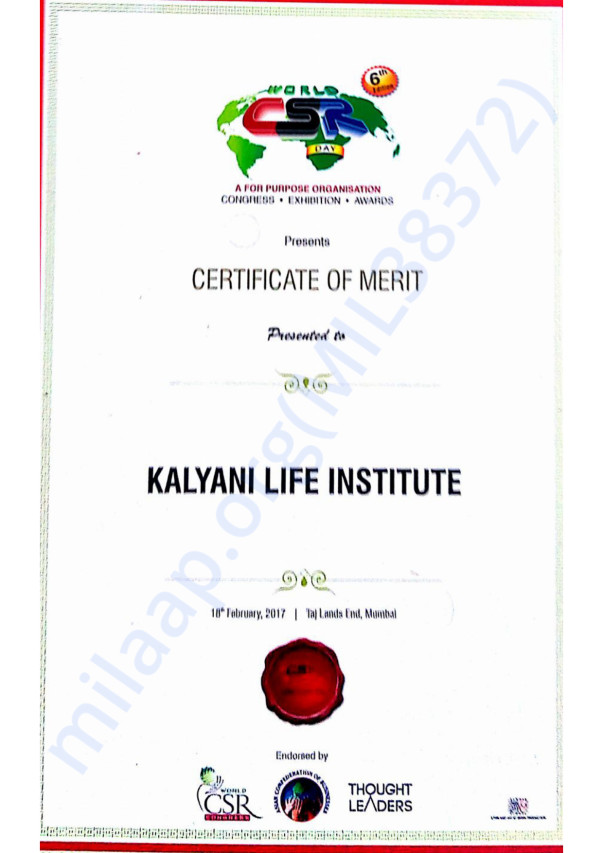 Award certificate (if any)