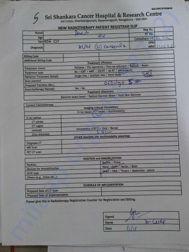 Patient Registrar Slip