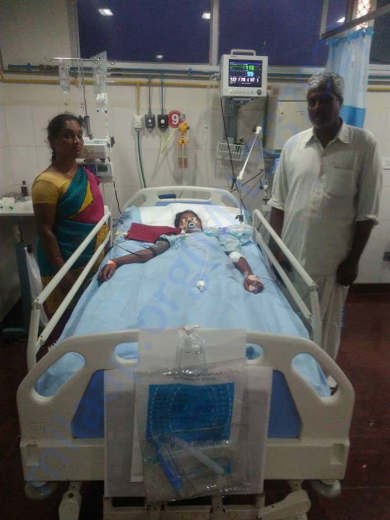sirisha in hospital