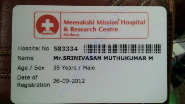 Hospital Registration ID card