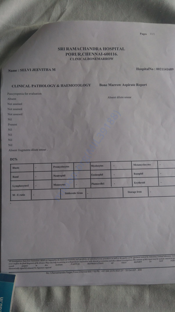 Medical test report2