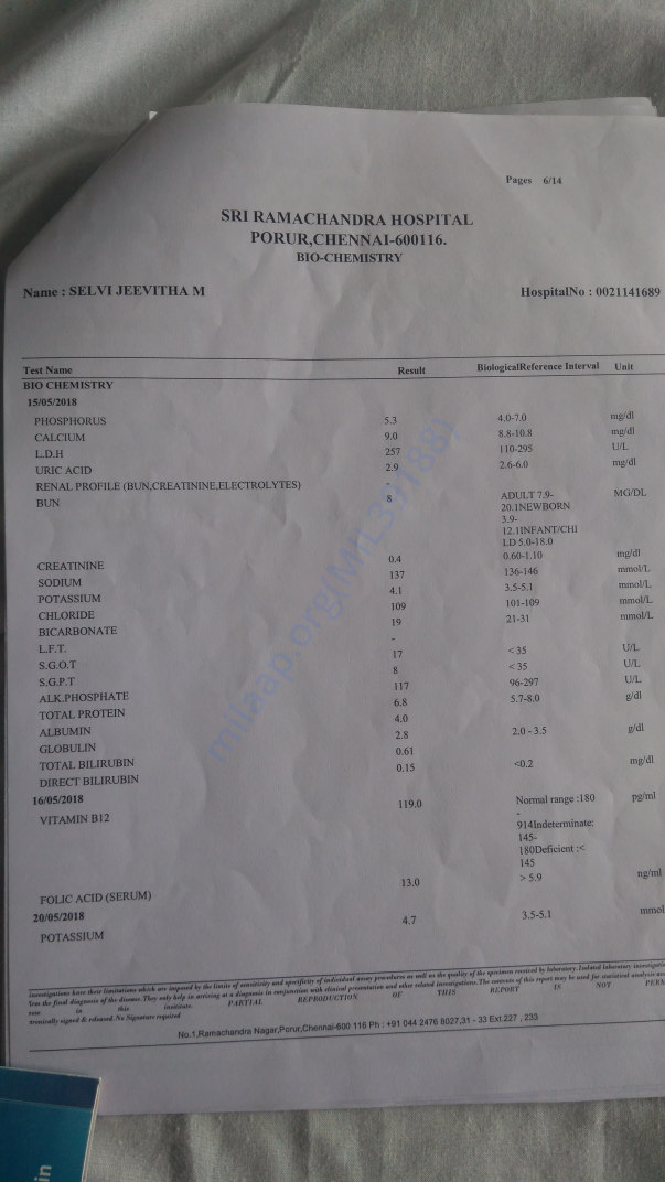 Medical test report3