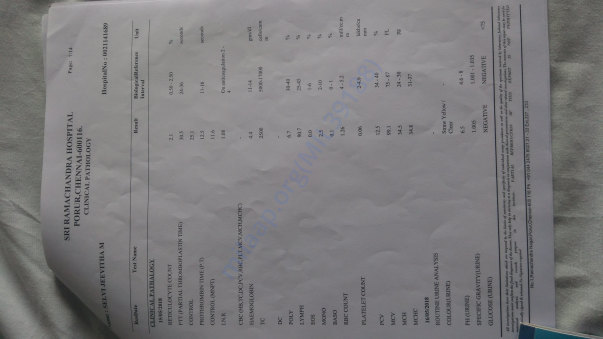 Medical test report4