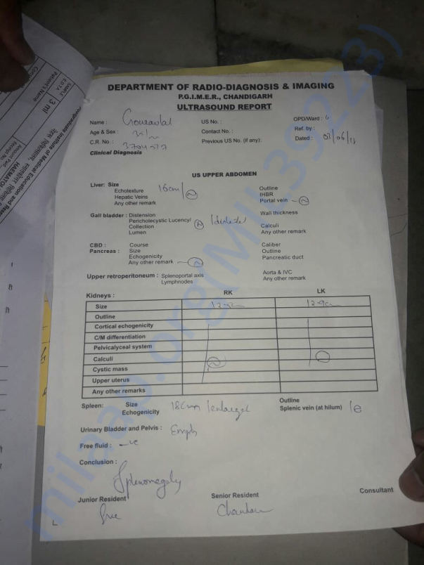Gaurav lal diagnosis report