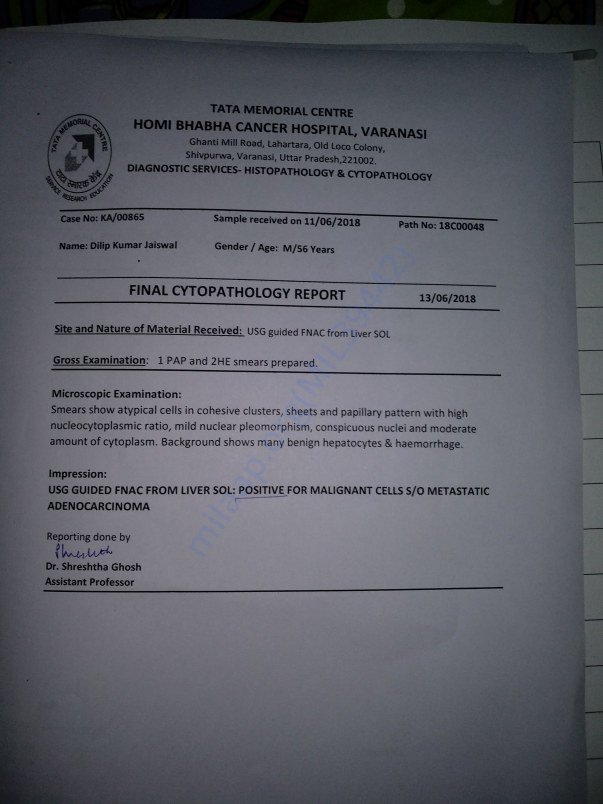This is Dilip's Biopsy report.