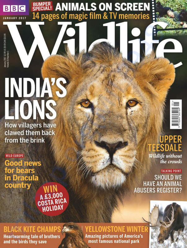 Our Work Covered in BBC Wildlife Magzine and is on Cover Page!