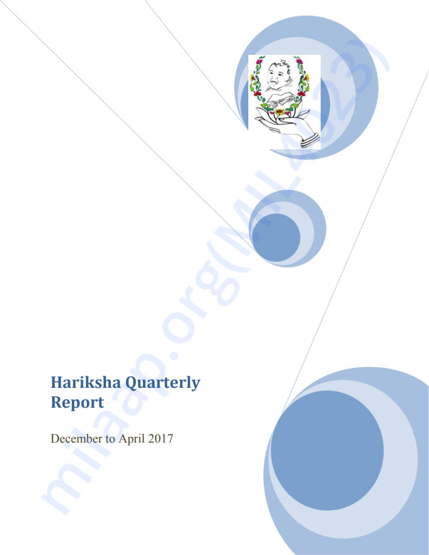 Hariksha Quarterly Report Feb to April - 2017