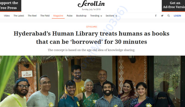 Scroll.in covering the Human Library Hyderabad story