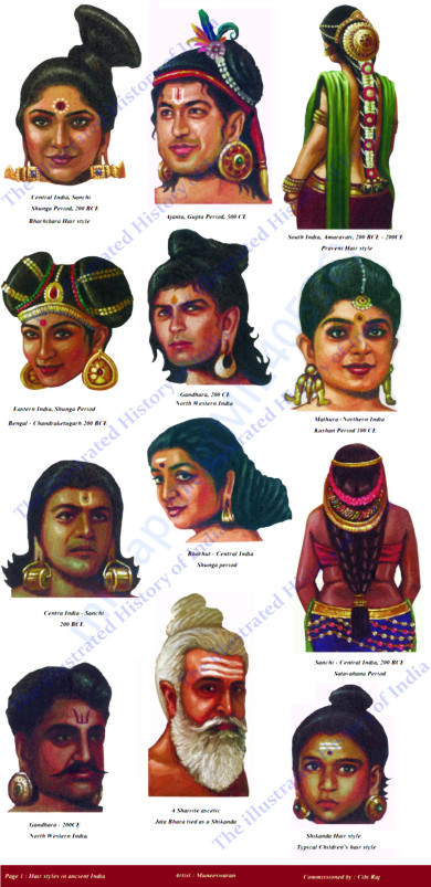 Sample page 1 ( cost : INR 18,000 ) , Hair Styles in Ancient India