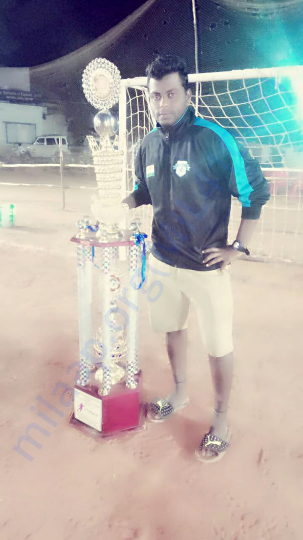 Trophy won by the player