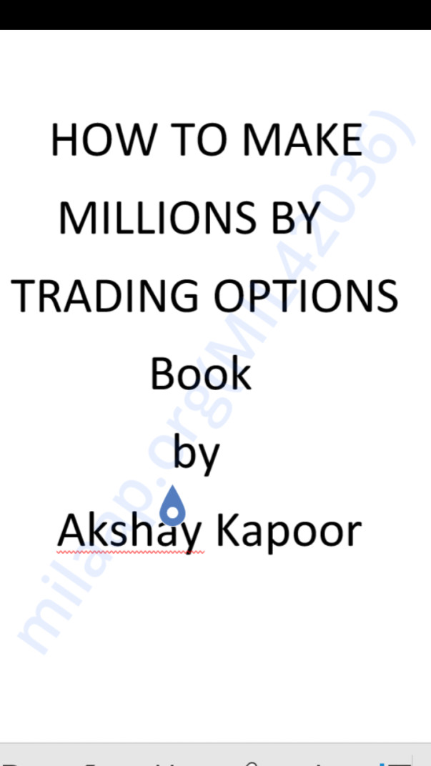 Book on making millions from options in 10 steps