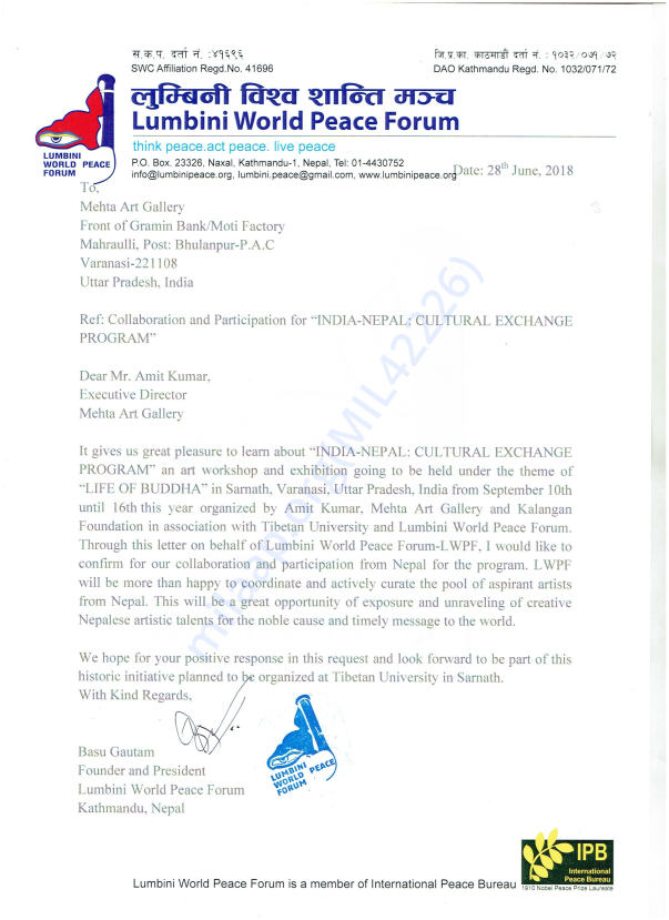 Letter from LWPF, Nepal
