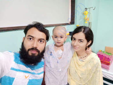 Arham undergoing treatment at Jehangir Hospital