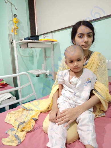 Arham in hospital for chemotherapy