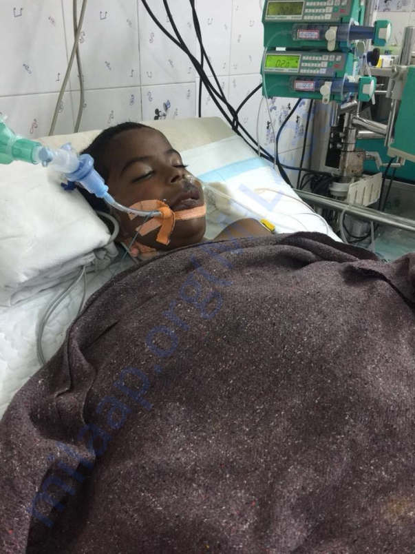 Chethan in the ICU before he passed away