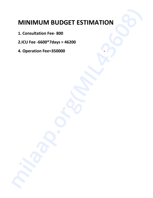 Budget Estimation.