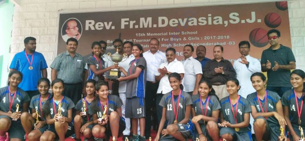 Girls winner for the last year Basketball tournament 2017