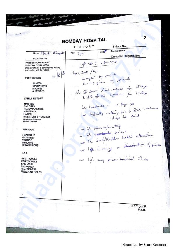 All the documents of her treatment