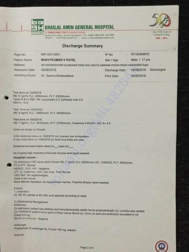 Diagnosis & Discharge Summary 2