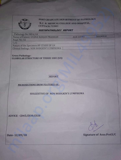 Medical Report of Gyana