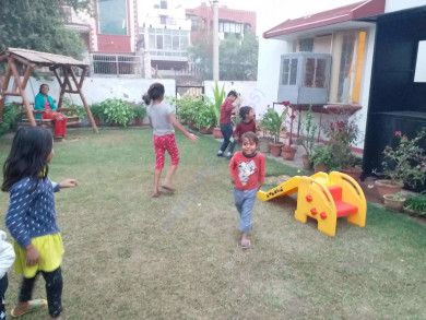 Some of the Children playing in the garden