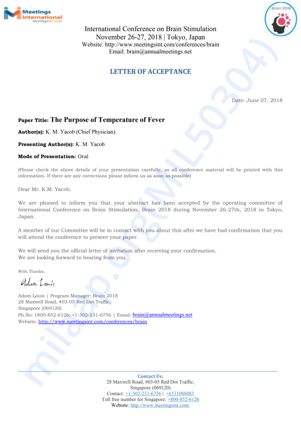 Brain stimulation Conference-Letter of Acceptance -1