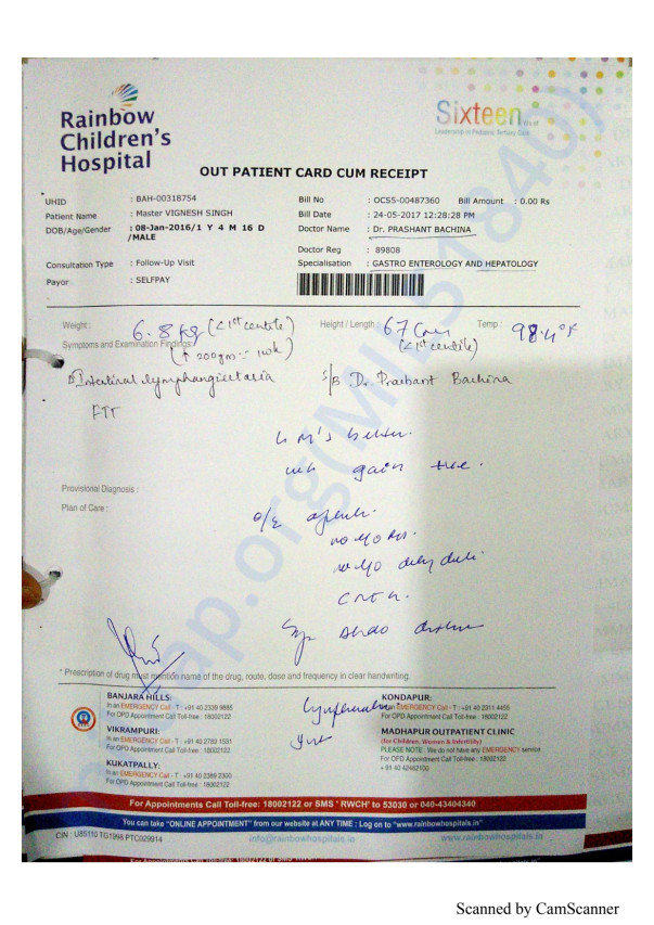 O. P. card, Letter for help, investigation report,  endoscopy & biopsy