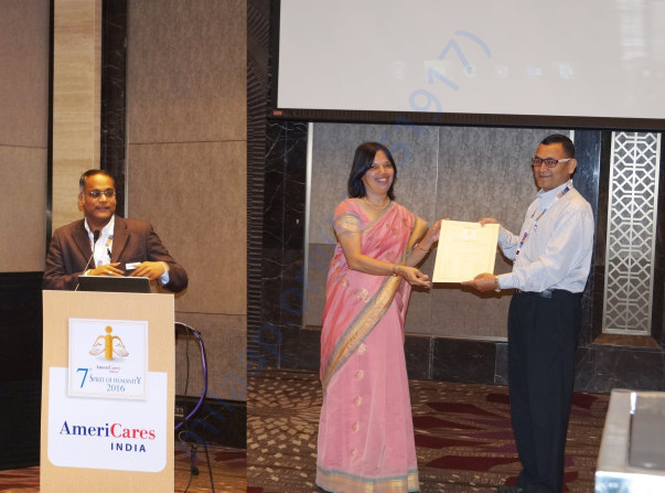AMERICARE INDIA AWARD NORTH ZONE REGIONAL WINNER DISABILITY SEP 2016