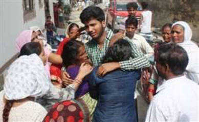 Vaibhav ( 19), Gulshan (16) and Radhika (8) the day after the tragedy