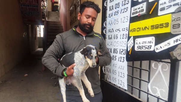 Praveen with a rescue