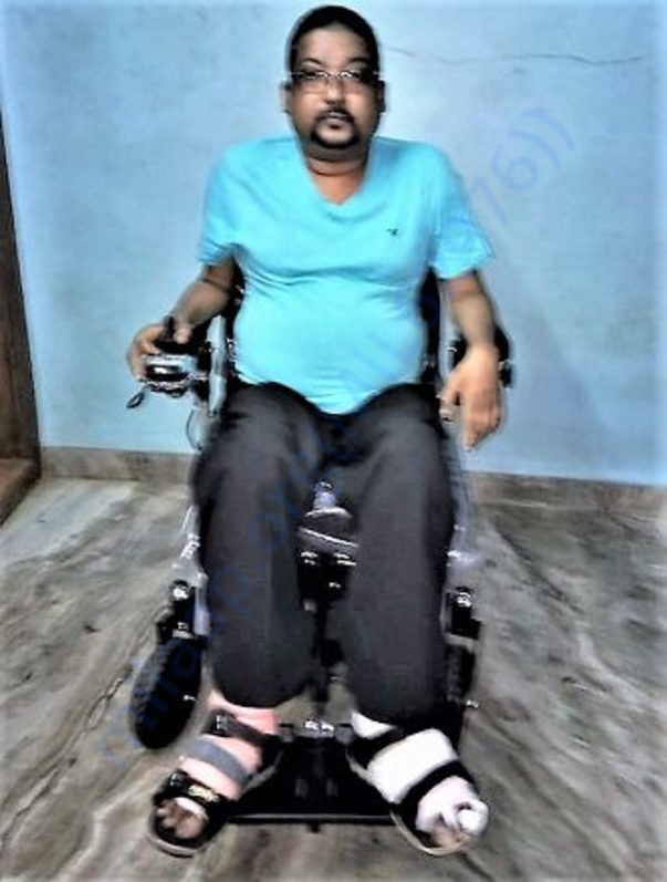 Saji on Wheel Chair