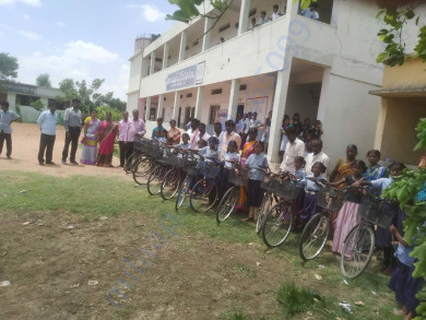 Happy Schools Bicycles given for Girl Students