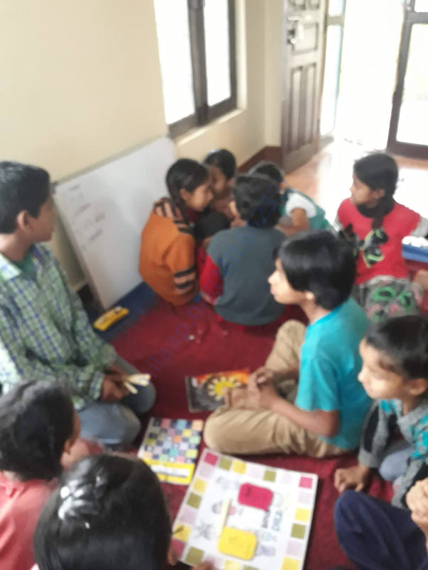 Learning skills to problem solve using a board game designed by MVF