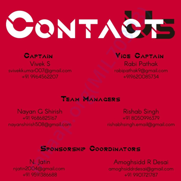 TEAM ARION CONTACT DETAILS