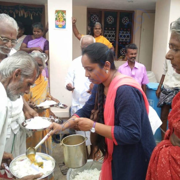 Free Mid-Day Meal Program for the Old and Elderly